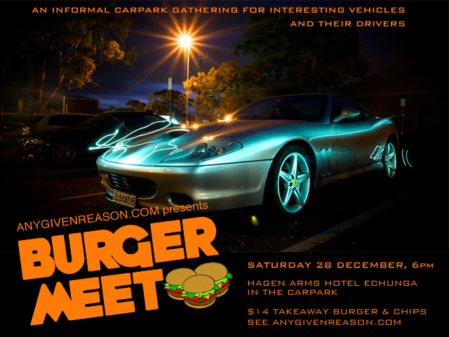 Burger Meet flyer